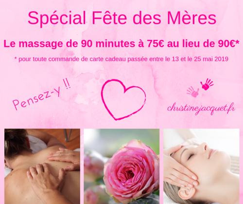 cadeau massage fête des mères 2019